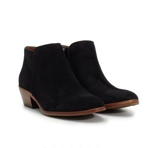 Sam Edelman Petty Ankle Booties Black Suede